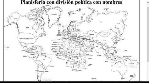 Resultado de imagen para mapamundi con nombres de los ...