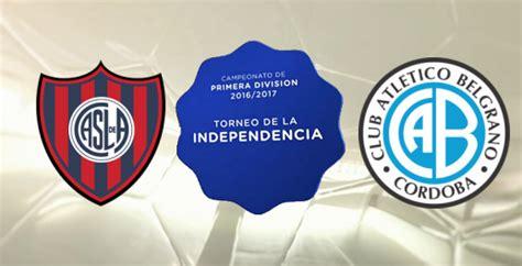 Resultado Final – San Lorenzo 2 Belgrano 1   Fútbol ...