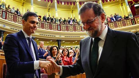 Resultado votación moción de censura: Rajoy cae, Sánchez ...