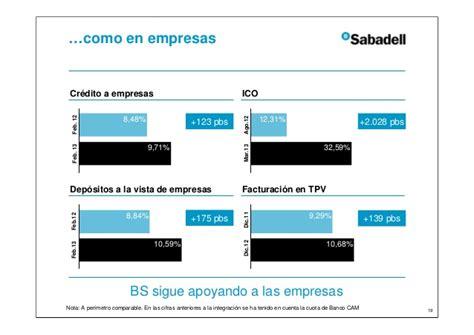 Resultados banco sabadell primer trimestre 2013