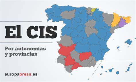 Resultados de la encuesta del CIS sobre elecciones ...