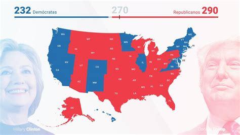 Resultados Elecciones Estados Unidos 2016: Mapa de estados ...