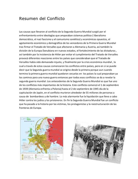 Resumen del conflicto  Segunda guerra mundial