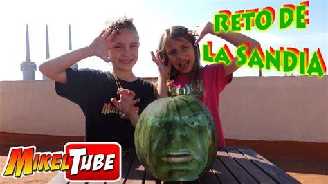 Reto de la Sandía Hulk en MikelTube - YouTube