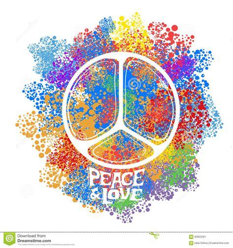 Retro hippie symbol stock vector. Image of colorful ...