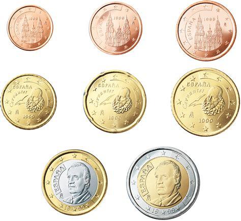 Reversos españoles de las monedas de Euros y céntimos de ...