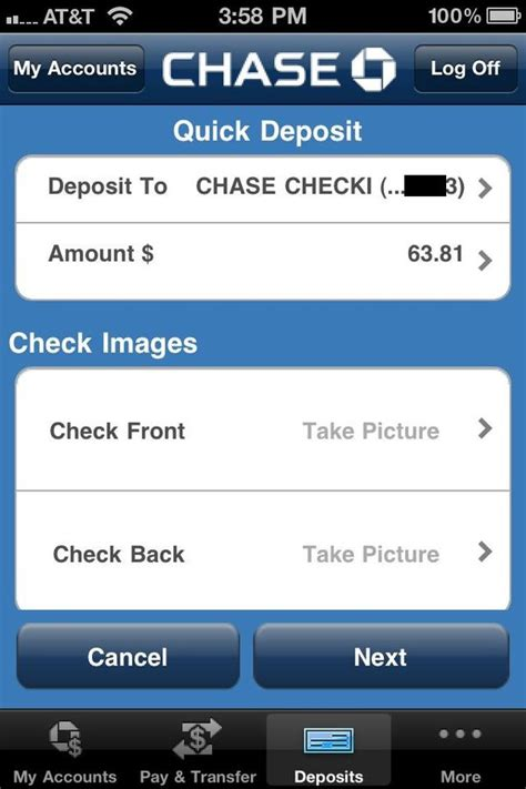 Review: Chase app -- access your account and even deposit ...