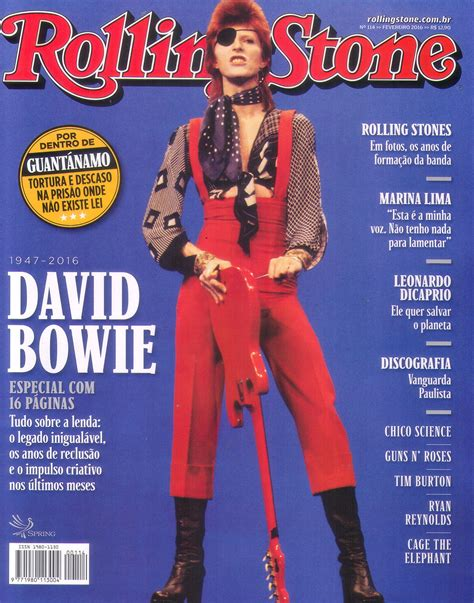 Revista Rolling Stone traz especial sobre David Bowie