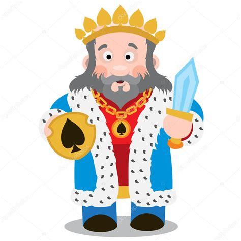 Rey de espadas. Vectores de personajes de dibujos animados ...