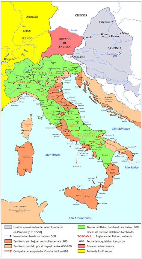 Reyes y Dinastías.: El Reino de los Longobardos en Italia ...