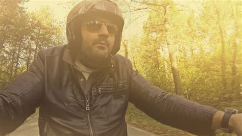 Riding motorcycle Footage | Stock Clips