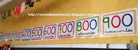 Rincón de una maestra: Carteles centenas