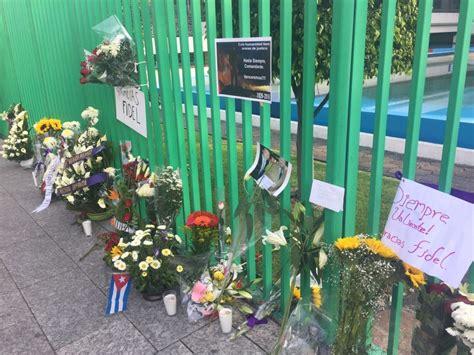 Rinden homenaje a Fidel Castro en la embajada de Cuba en ...