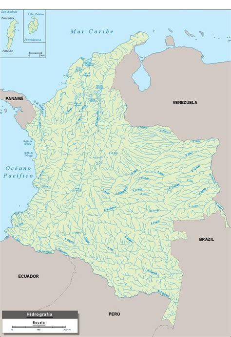 Rios Mapa Colombia
