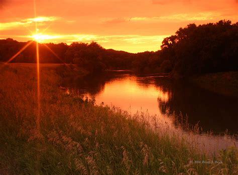 River Bank Sunset In High Resolution HD Desktop Wallpaper ...