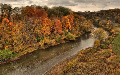 River Forest Otoño Profundo Nube fondos de pantalla ...