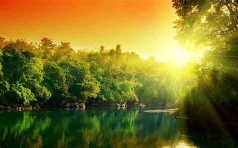 river sunset forest   HD Desktop Wallpapers | 4k HD