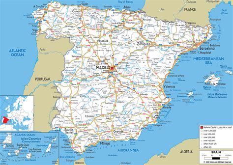 Road Map of Spain   Ezilon Maps