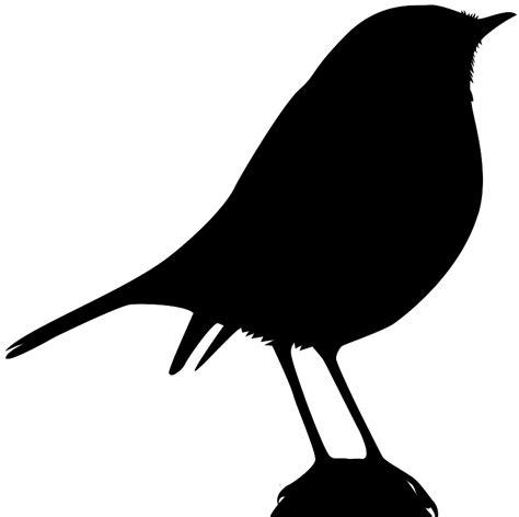 Robin Bird Silhouette   Free vector silhouettes