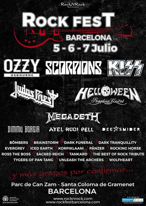 ROCK FEST BARCELONA: Distribución de bandas y venta de ...