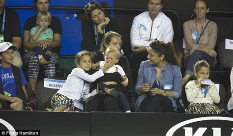 Roger and Mirka Federer s son cries during Australian Open ...
