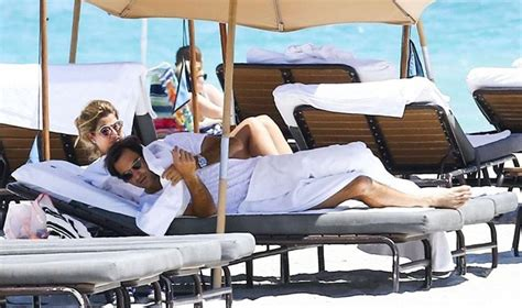 Roger Federer And His Wife Mirka At The Beach   See The Pics
