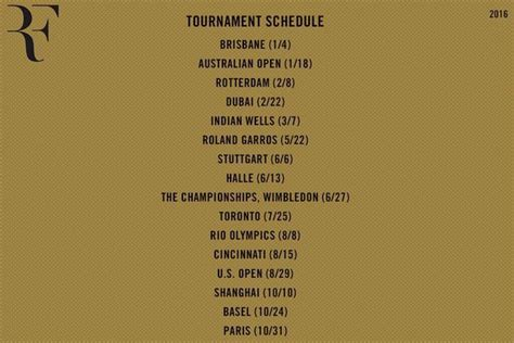 Roger Federer Announces 2016 Schedule   VAVEL.com