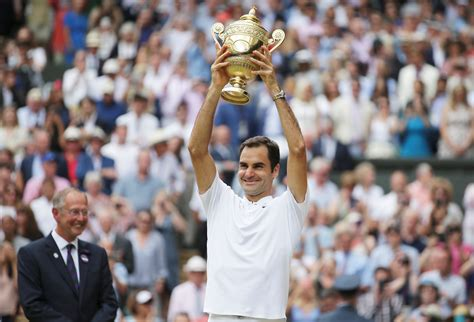Roger Federer Wins a Record Breaking Eighth Wimbledon Title