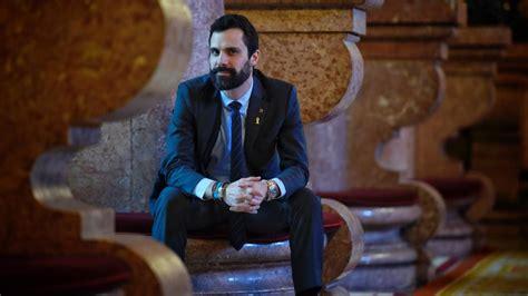 """Roger Torrent, presidente del Parlament de Catalunya: """"Con ..."""