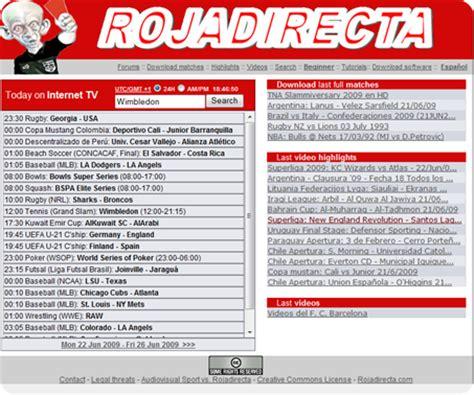 RojaDirecta.com y .org – Ver fútbol en vivo por Internet