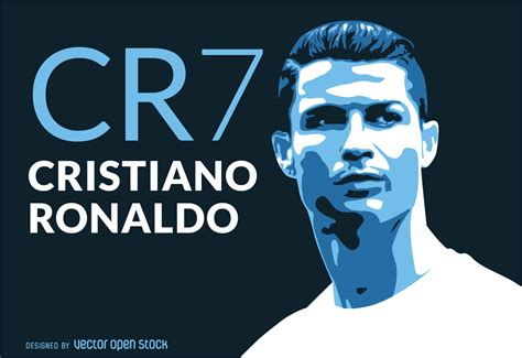Ronaldo CR7 illustration   Vector download