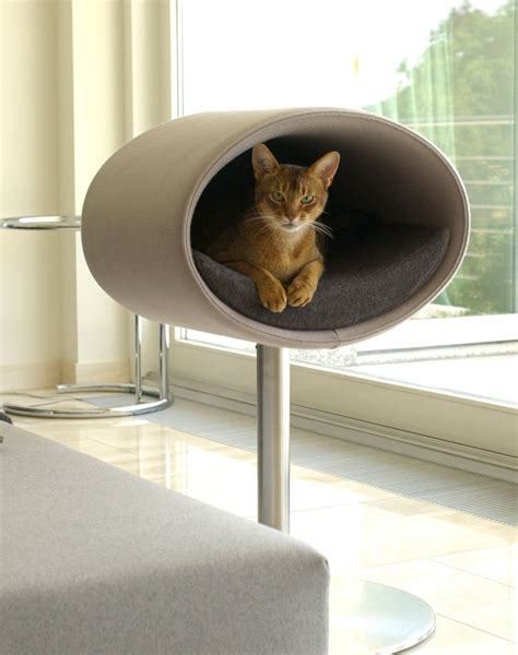 Rondo modern furniture for cats, a cat scratch post and ...