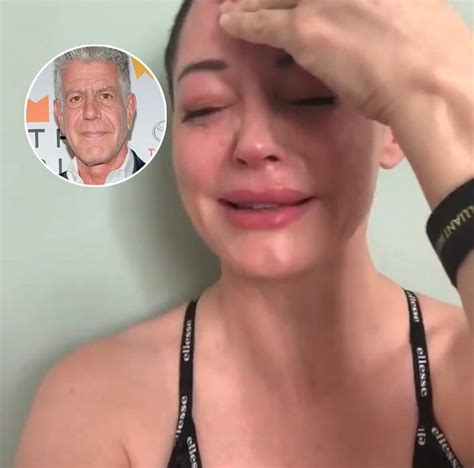Rose McGowan hijacks Anthony Bourdain suicide death with ...