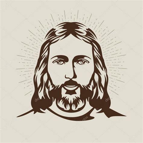 rostro de Jesucristo — Vector de stock © biblebox #89943740