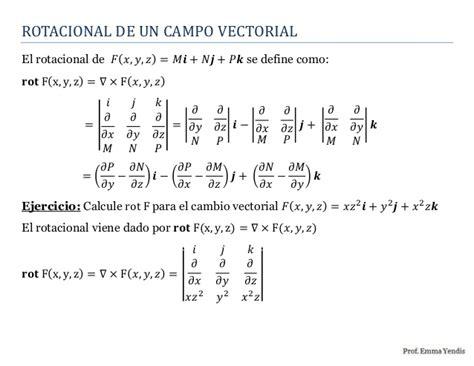 Rotacional de un campo vectorial