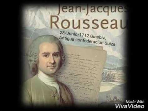 Rousseau - aportaciones a la sociología - YouTube