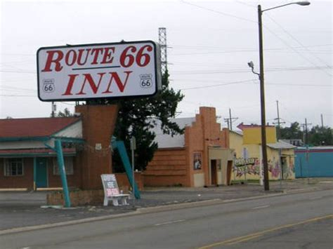 Route 66 in Amarillo, Texas, Old Route 66 Signs.