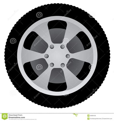 Rueda Auto Ilustración del Vector   Imagen: 39090128