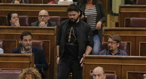 Rufián a Rajoy: Saque sus sucias manos de las ...