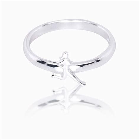 Runner Girl Sterling Silver Ring | Sterling Silver Running ...