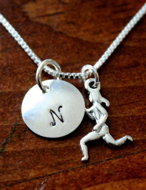 Runners Necklace- Initial or Distance | kandsimpressions