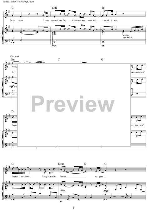 Runnin  Home To You   from The Flash Sheet Music   For ...
