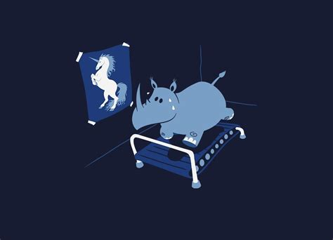 Runnin' Rhino by Allan Faustino | Mens Tee Threadless