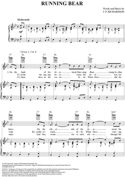 Running Bear Sheet Music   Music for Piano and More ...