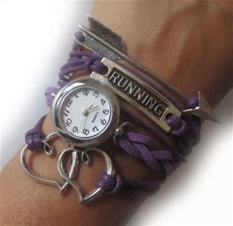 Running bracelet with a watch