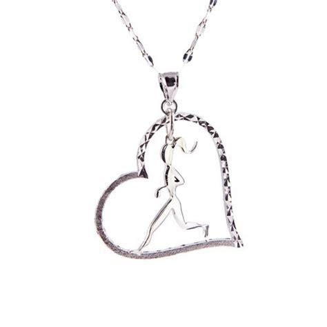 Running Jewelry Runner Girl Heart by MilestonesJewelry on Etsy