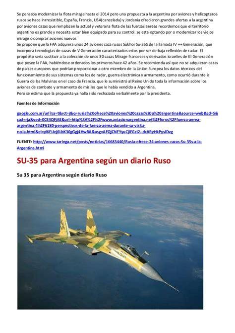 Rusia ofrece 24 aviones cazas Su-35s a la Argentina