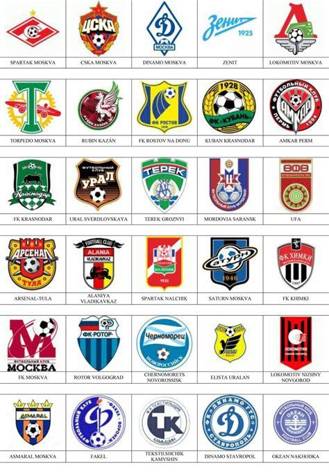 Rusia - Pins de escudos/insiginas de equipos de fútbol.