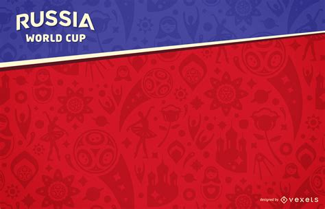 Russia 2018 World Cup background   Vector download
