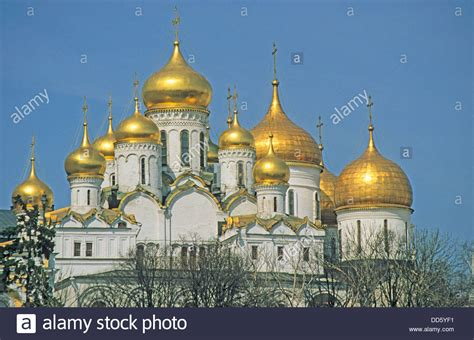 Russia, Moscow, Kremlin, Cathedral church of the ...